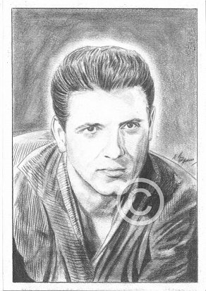 Eddie Cochran Pencil Portrait