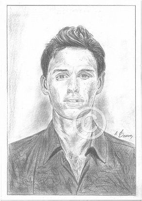 Eddie Redmayne Pencil Portrait