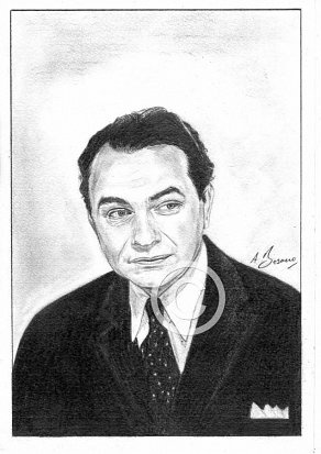 Edward G. Robinson Pencil Portrait