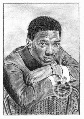 Edwin Starr Pencil Portrait