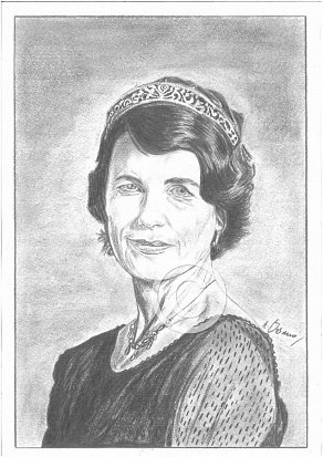 Elizabeth McGovern Pencil Portrait