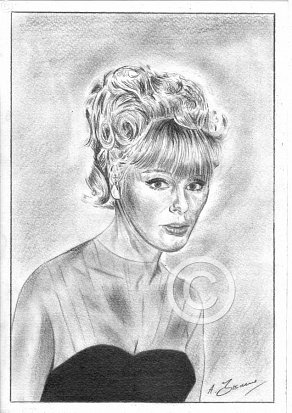 Elke Sommer Pencil Portrait