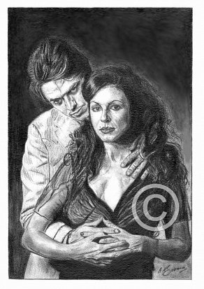 Elkie Brooks & Robert Palmer Pencil Portrait
