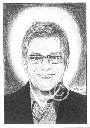 Elton John Pencil Portrait