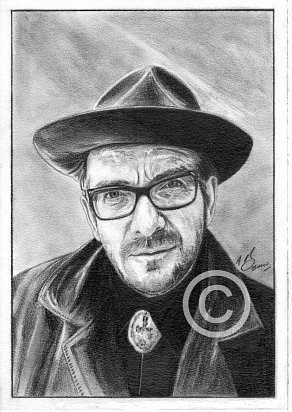 Elvis Costello Pencil Portrait