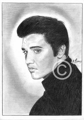 Elvis Presley Pencil Portrait