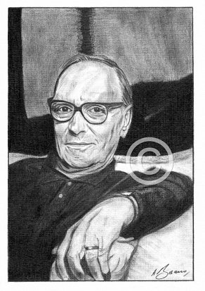 Ennio Morricone Pencil Portrait