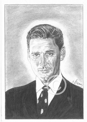 Errol Flynn Pencil Portrait