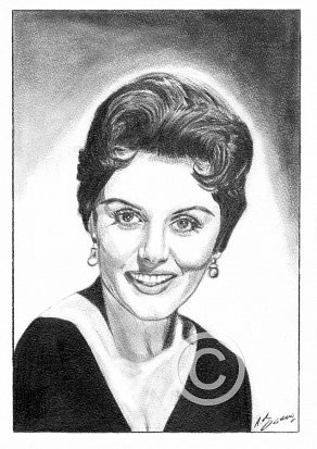 Eunice Gayson Pencil Portrait