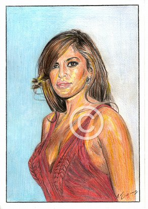 Eva Mendes Pencil Portrait