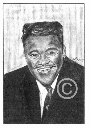 Fats Domino Pencil Portrait