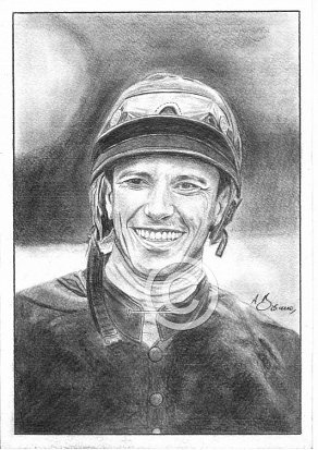 Frankie Dettori Pencil Portrait