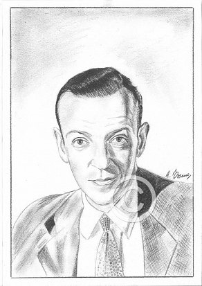 Fred Astaire Pencil Portrait