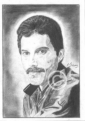 Freddie Mercury Pencil Portrait