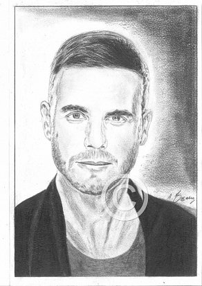 Gary Barlow Pencil Portrait