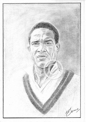 Gary Sobers Pencil Portrait