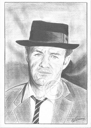 Gene Hackman Pencil Portrait