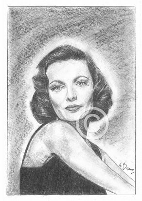 Gene Tierney Pencil Portrait
