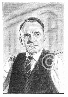 Geoffrey Keen Pencil Portrait
