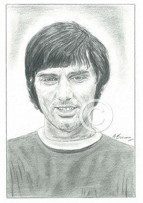 George Best Pencil Portrait