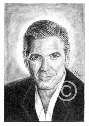 George Clooney Pencil Portrait