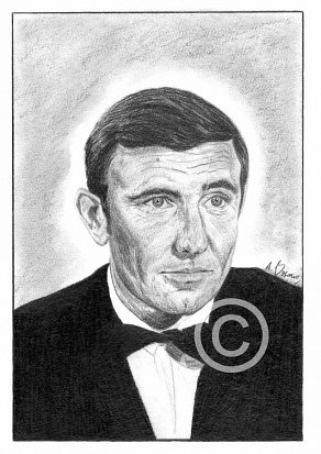 George Lazenby Pencil Portrait
