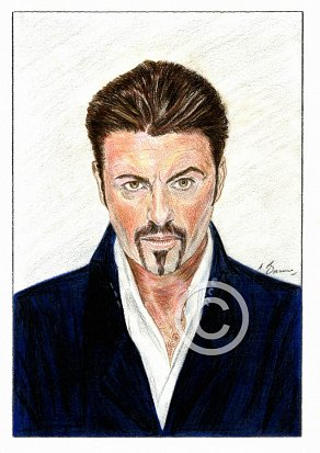 George Michael Pencil Portrait