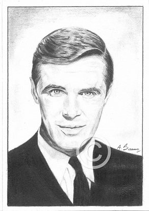 George Peppard Pencil Portrait