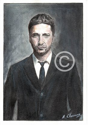 Gerard Butler Pencil Portrait