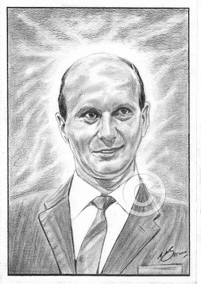 Gerry Anderson Pencil Portrait