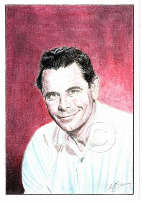 Glenn Ford Pencil Portrait