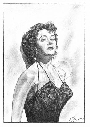 Gloria Grahame Pencil Portrait