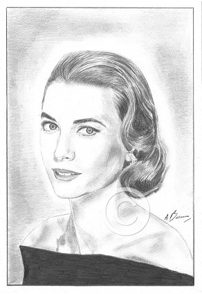 Grace Kelly Pencil Portrait