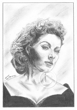 Greer Garson Pencil Portrait