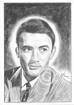 Gregory Peck Pencil Portrait