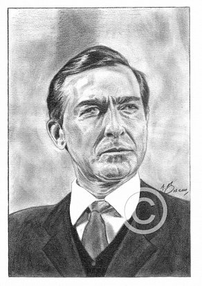 Guy Doleman Pencil Portrait