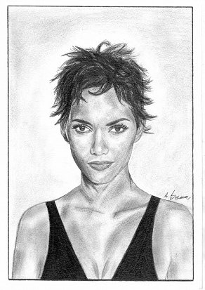 Halle Berry Pencil Portrait