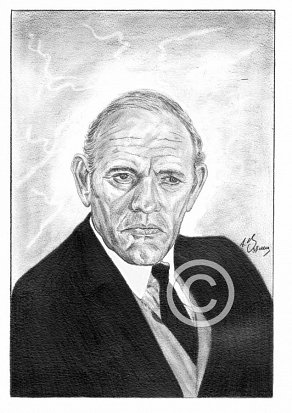 Harry Andrews Pencil Portrait