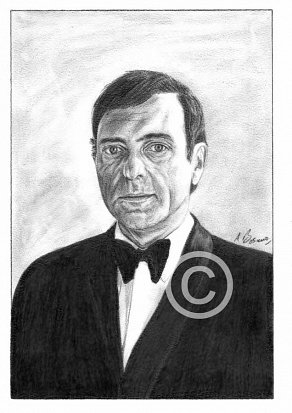 Harry H Corbett Pencil Portrait