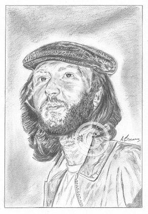 Harry Nilsson Pencil Portrait