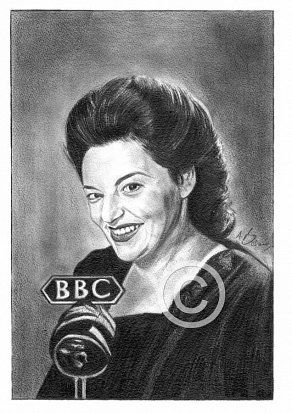 Hattie Jacques Pencil Portrait