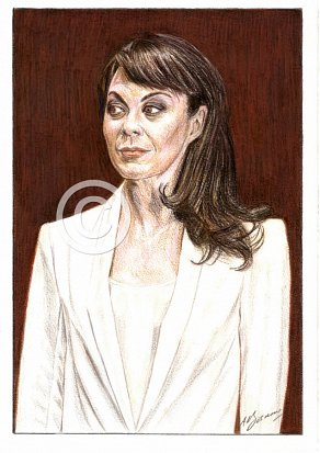Helen McCrory Pencil Portrait