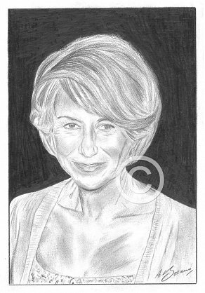 Helen Mirren Pencil Portrait