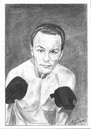 Henry Cooper Pencil Portrait