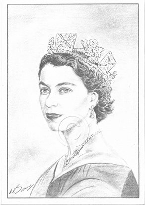 Her Majesty, The Queen Pencil Portrait