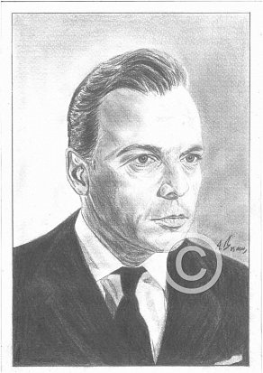 Herbert Lom Pencil Portrait