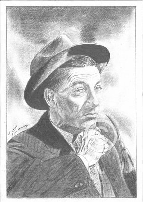 Hoagy Carmichael Pencil Portrait