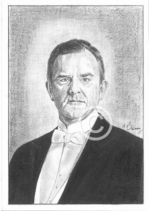 Hugh Bonneville Pencil Portrait