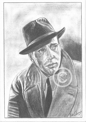Humphrey Bogart Pencil Portrait