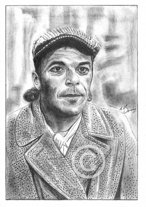 Ian Dury Pencil Portrait